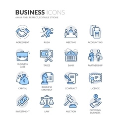 Line Business Icons vector image vector image