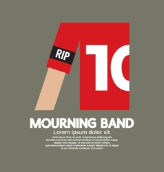 Mourning Band On Soccer Sleeve vector image