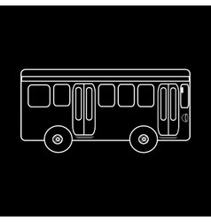 Passenger bus journey to city public transport vector image