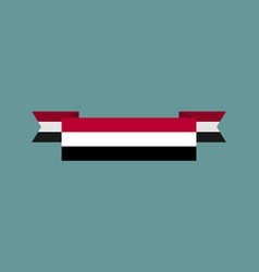 yemen flag ribbon isolated yemeni tape banner vector image