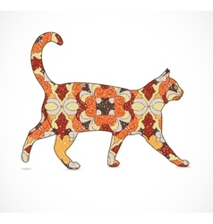 Abstract colorful cat vector