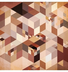 Abstract geometry brown background vector image
