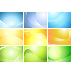 Abstract wavy banners set vector image