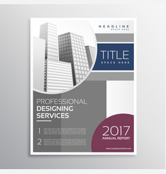 Annual report business flyer design in vector