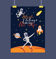 Astronaut cosmonaut spaceman character in vector