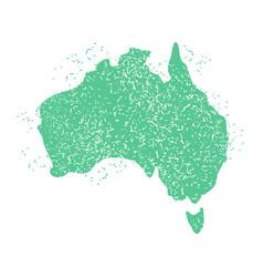 Australia map grunge style australian land vector