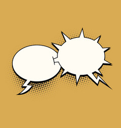 Ball and spikes comic bubble vector