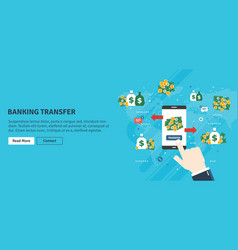 banking transfer transaction financial and money vector image