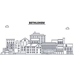 Bethlehem united states outline travel skyline vector