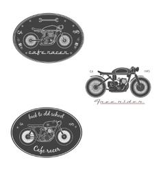 Big set of vintage motorcycle labels vector image