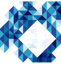 Blue modern geometric design template vector