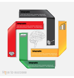 Brainstorm to success Infographic vector