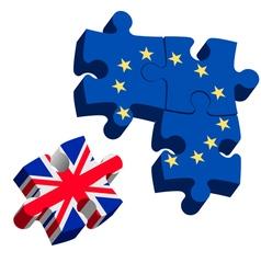 Brexit puzzle pieces vector