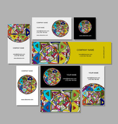 business cards design ethnic mandala vector image