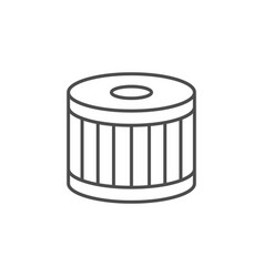Car air filter line outline icon vector