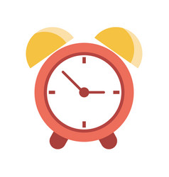 clock time alarm hour vector image
