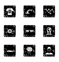 Computer latest devices icons set grunge style vector