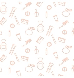 Cosmetic accessories girl seamless pattern vector