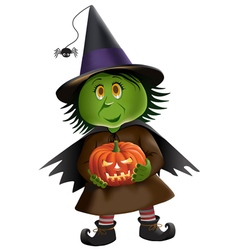 Cute Green Witch vector