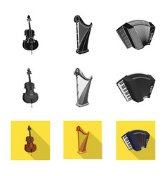 Design of music and tune sign collection vector