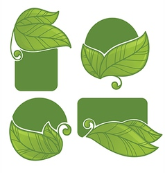 eco stickers vector image