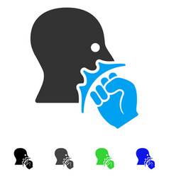 Face violence strike flat icon vector