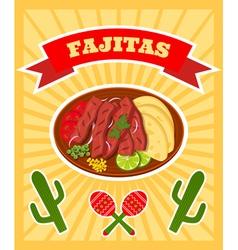 Fajitas poster vector
