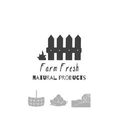 Farm market logo template vector