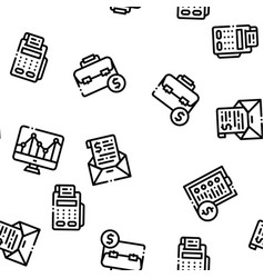 financial accounting seamless pattern vector image