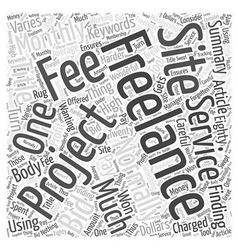 Finding Freelance Projects Word Cloud Concept vector