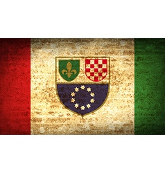 Flags Bosnia and Herzegovina Federation with dirty vector