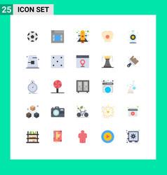 Flat color pack 25 universal symbols autumn vector