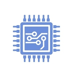 Flat Style CPU Icon vector