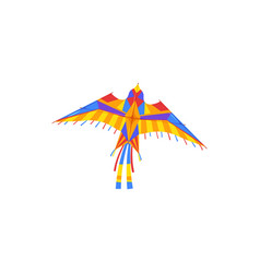 flying kite entertainment and active pastime vector image