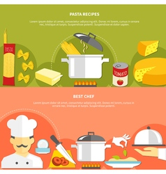 Food flat horizontal banners vector