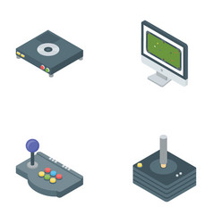 Game accessories icons vector