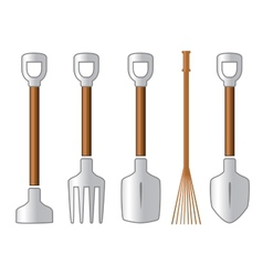 Gardening isolated tools set vector