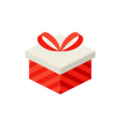gift box isometric object vector image