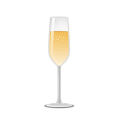 Glass of champagne classical luxury alcohol drink vector