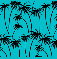 Hand drawn palm trees pattern vector