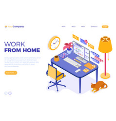 Home office work from home vector