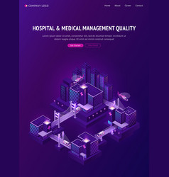 hospital and medical management in smart city vector image