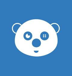 Icon on background teddy bear face vector
