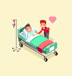 Iv stand and isometric people vector