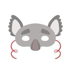 Koala Bear Animal Head Mask Kids Carnival vector image