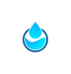 Laundry water logo icon design vector