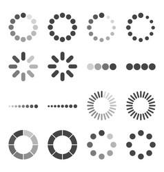 Loading bar icon set symbol vector