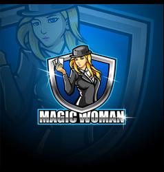 Magic women esport mascot logo vector