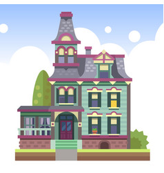 Multi-storey country house vector