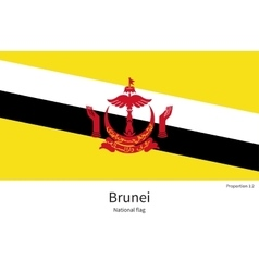 National flag of brunei with correct proportions vector